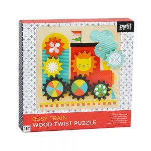 Puzzle Twist de madera Tren