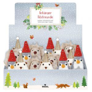 Adornos Navidad Animales de Fieltro