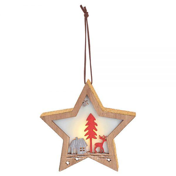 Estrella colgante con iluminación Led Navidad (12)