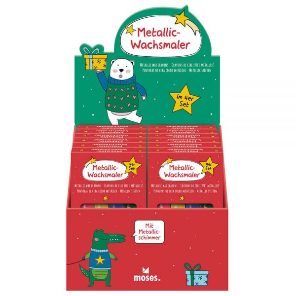 Set 4 ceras metalizadas Navidad (12)