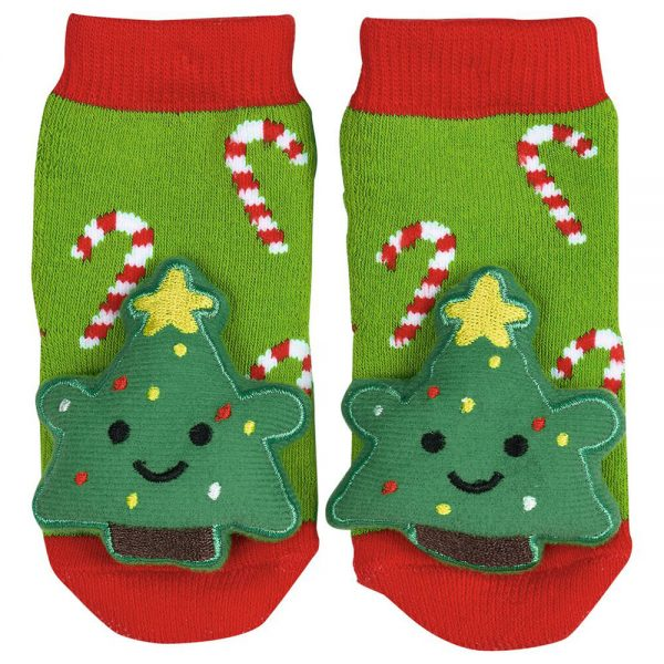 Calcetines sonajeros Amigos Navidad (12)