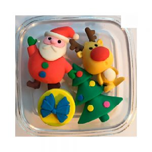 24 Sets gomas borrar motivo Navidad
